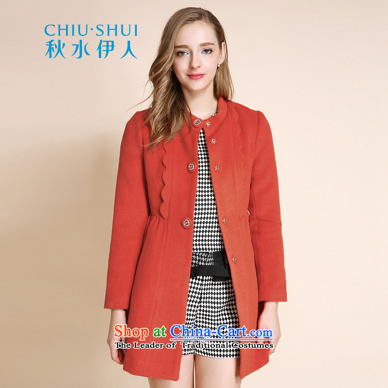 Chaplain who 2015 winter clothing new Korean female round-neck collar Foutune of video thin hair?. 155_80A_S. Red Jacket