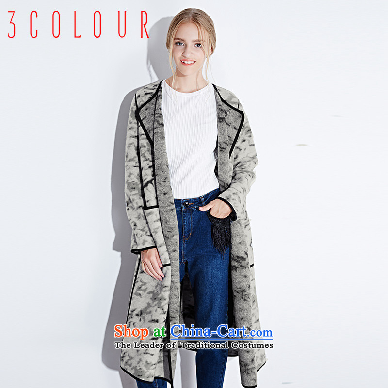 2015 winter clothing new Western Wind loose big long-sleeved jacket coat S440127D00 gross? female blue-gray 160_84A_M