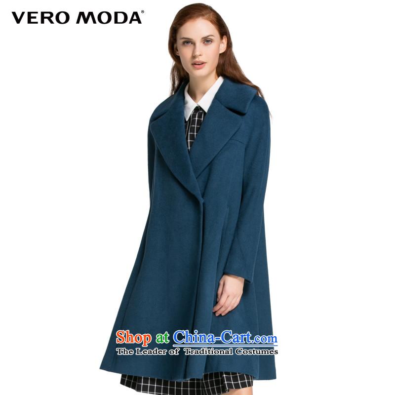 Vero moda large roll collar type H |315327015 woolen coat, blue-gray�5_84A_M 036