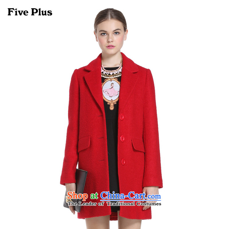Five new female autumn plus in long loose long-sleeved gross overcoats 2YD3344900? 120 XS_155_80A_ red