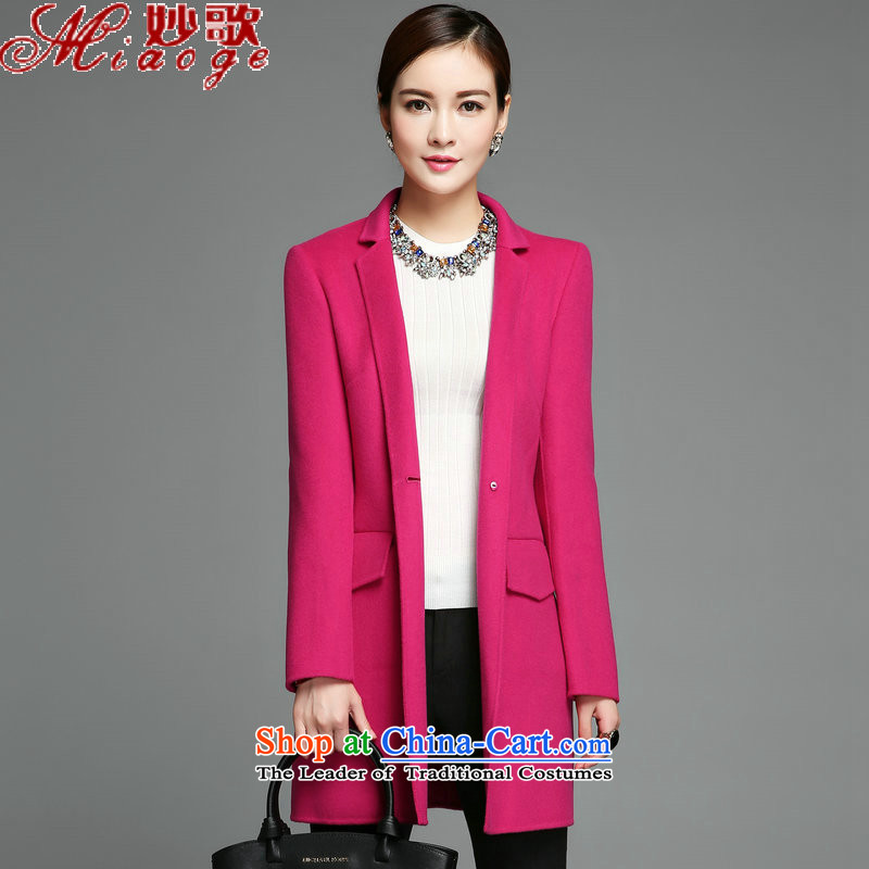 Mya Song (autumn 2015) new miaoge, Korean female stylish duplex coat Cashmere wool coat jacket?? The Red M MG111