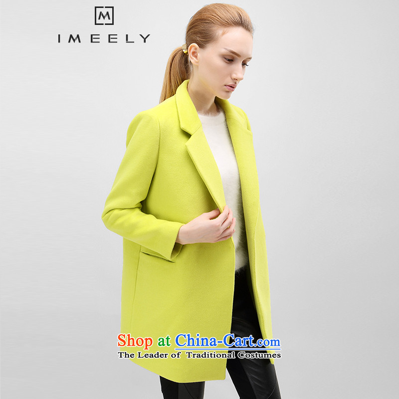 The fall of new, IMEELY2015 long sleek hair? coats female wild long-sleeved jacket Yellow燤 Gross?