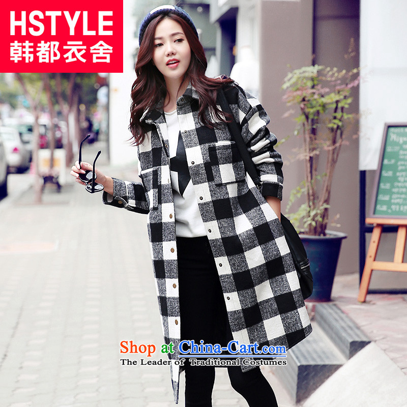 Korea has the Korean version of the Dag Hammarskj鰈d yi 2015 Autumn load new women's compartment long hair loose coat JZ4672?2.燘lack燬