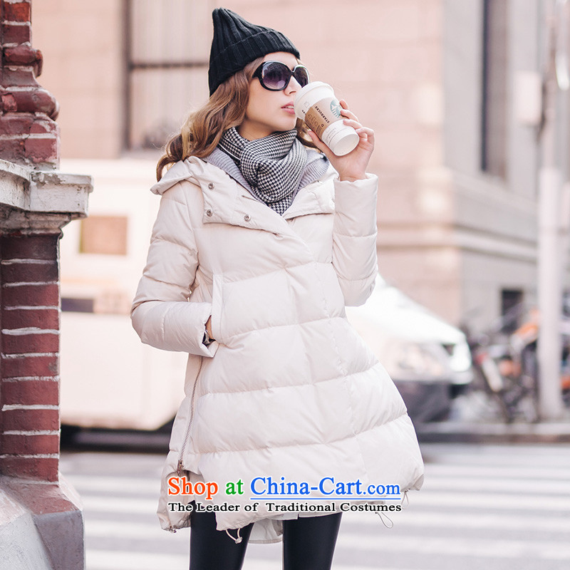 Maximum number of ladies in the countrysides female long knitting with cap reinforcement A typeface robe, leave two cotton coat picture color�L around 922.747 180-200
