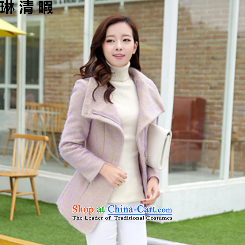 Lin Ching-pledged 2015 autumn and winter new gross in Winter Female jacket? long loose thick coat Korean female Zi Jin聽M