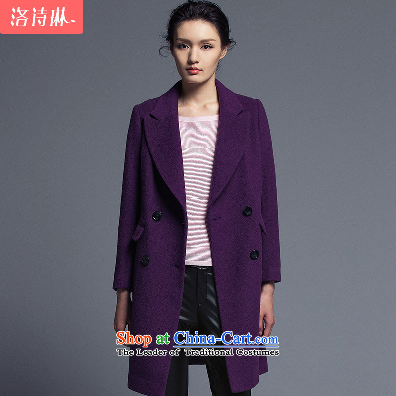 The poem Lin2015 LUXLEAD winter-minded new connection for long-sleeved double-temperament. Long hair? coats sexily Shaded PurpleM