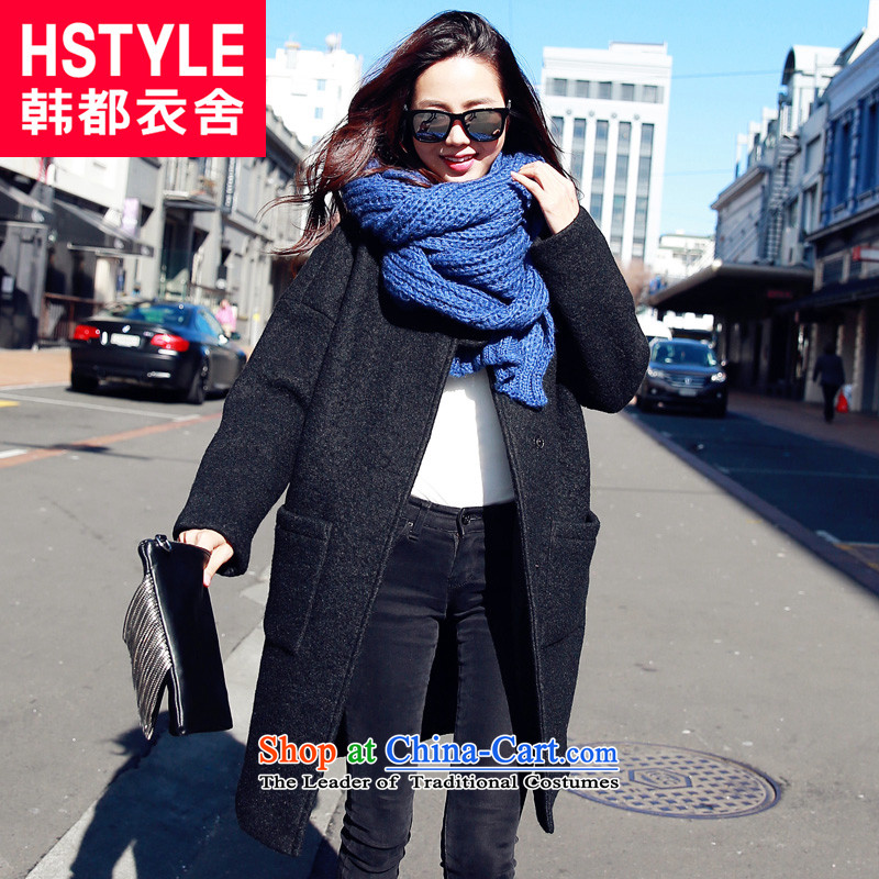 Korea has the Korean version of the Dag Hammarskjöld yi 2015 winter clothing new liberal women's Mock-neck long-sleeved jacket KY4533?_6_ gross black M