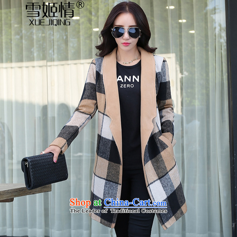 Michelle Gellar of 2015 New Fall/Winter Collections suits for long hair? Jacket coat larger female wind jacket western temperament Sleek and versatile graphics its grid Sau San L