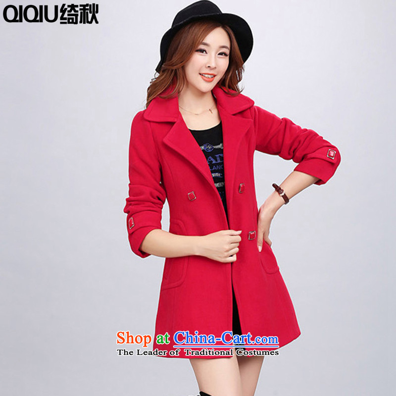 The cross-hair fall? coats female autumn and winter 2015 new sub-jacket girls_? Thin red T-Shirt   Graphics XL recommendations 113-123 catty weight through