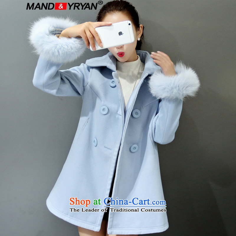 Mantile en code women for winter coats in thick hair? long thick MM loose video thin cloak A field, a wool coat figure /MDR895 XXXL