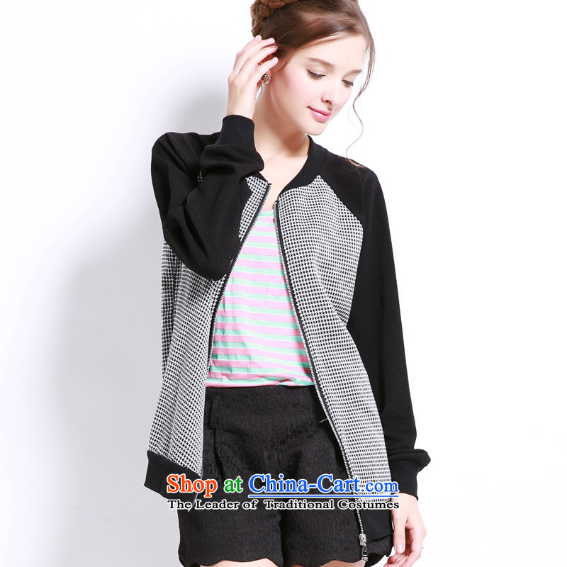 Luo Shani flower code women fall to replace xl jacket thick sister new Korean leisure long-sleeved shirt 13205 graphics on the thin gray�L
