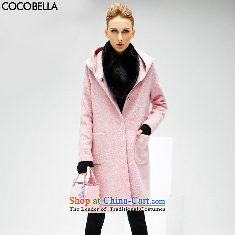 2015 Autumn and Winter Europe COCOBELLA van in long solid color woolen cap thick hair? female CT113 jacket rose toner聽M