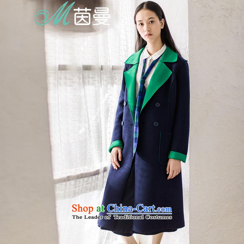 AthenaChu Load New Cayman 2015, minimalist knocked color graphics and slender waist_?? _8530410473 coats jacket- blue-greenS