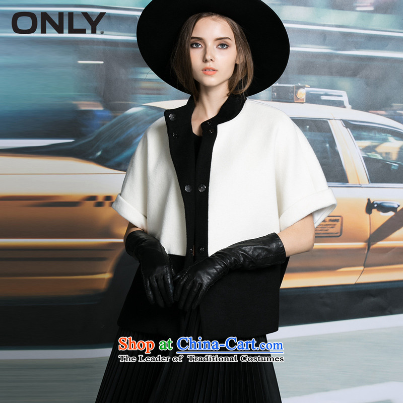 Load New autumn ONLY2015 black and white color plane of the bat short sleeve jacket women? gross L|11534t005 Milk white燾ream 155_76A_XS 021