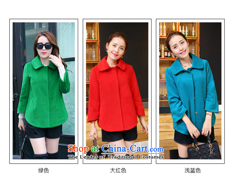 Candy Lo聽2015 Fall/Winter Collections new Korean Sau San video thin knitting Cashmere wool coat short of the amount?? jacket female grass green聽M picture, prices, brand platters! The elections are supplied in the national character of distribution, so action, buy now enjoy more preferential! As soon as possible.
