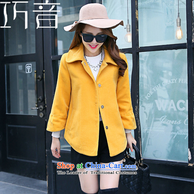 Candy Lo聽2015 Fall/Winter Collections new Korean Sau San video thin knitting Cashmere wool coat short of the amount?? jacket female grass green聽M candy shopping on the Internet has been pressed.