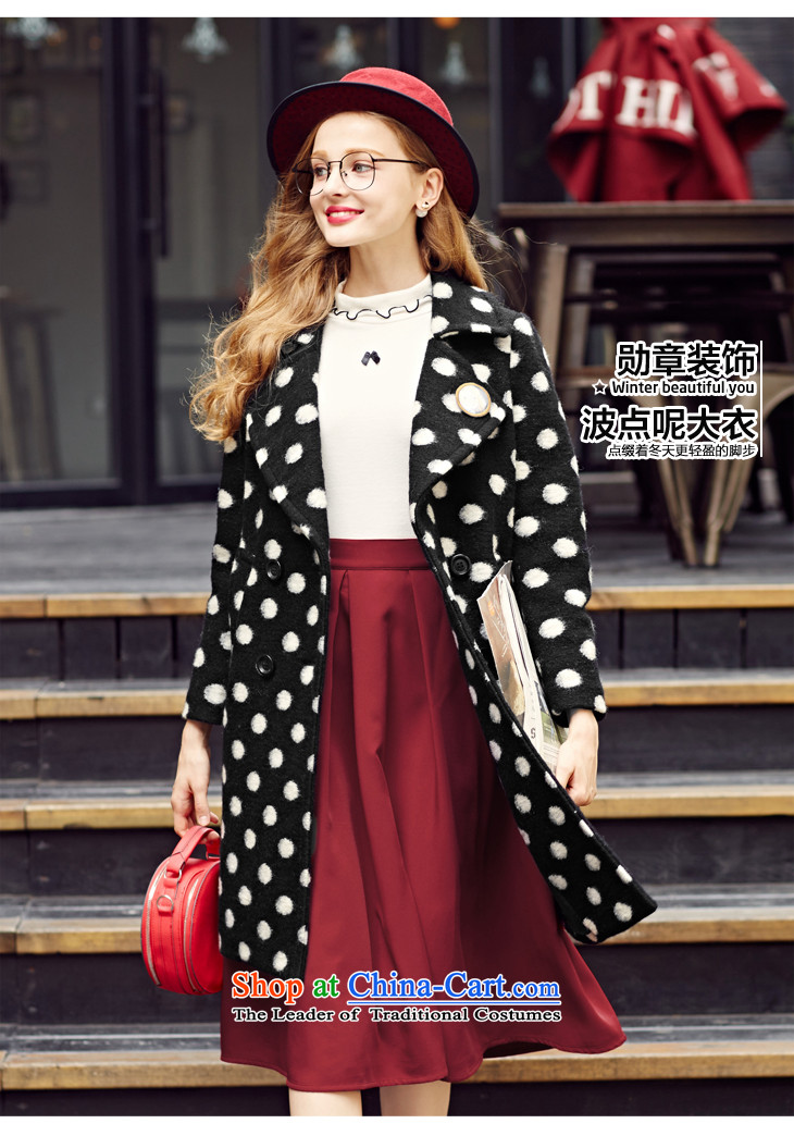 Lok-machi 2015 Autumn new gross coats dot? Long a wool coat lapel woolen coat jacket black and white wave gross? Point聽M/160 picture, prices, brand platters! The elections are supplied in the national character of distribution, so action, buy now enjoy more preferential! As soon as possible.