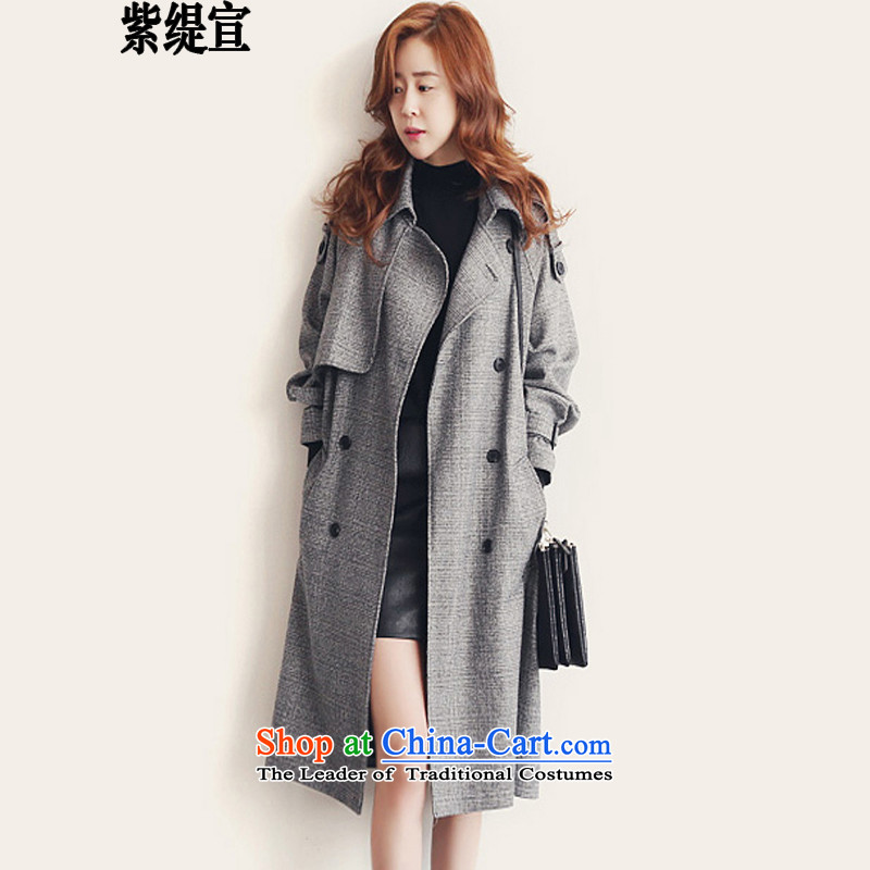 The first declared as thick mm to increase women's code of England, autumn and winter in a stylish new long Leisure windbreaker female coats jacket around 922.747 XXL135-145 L8139_ Gray