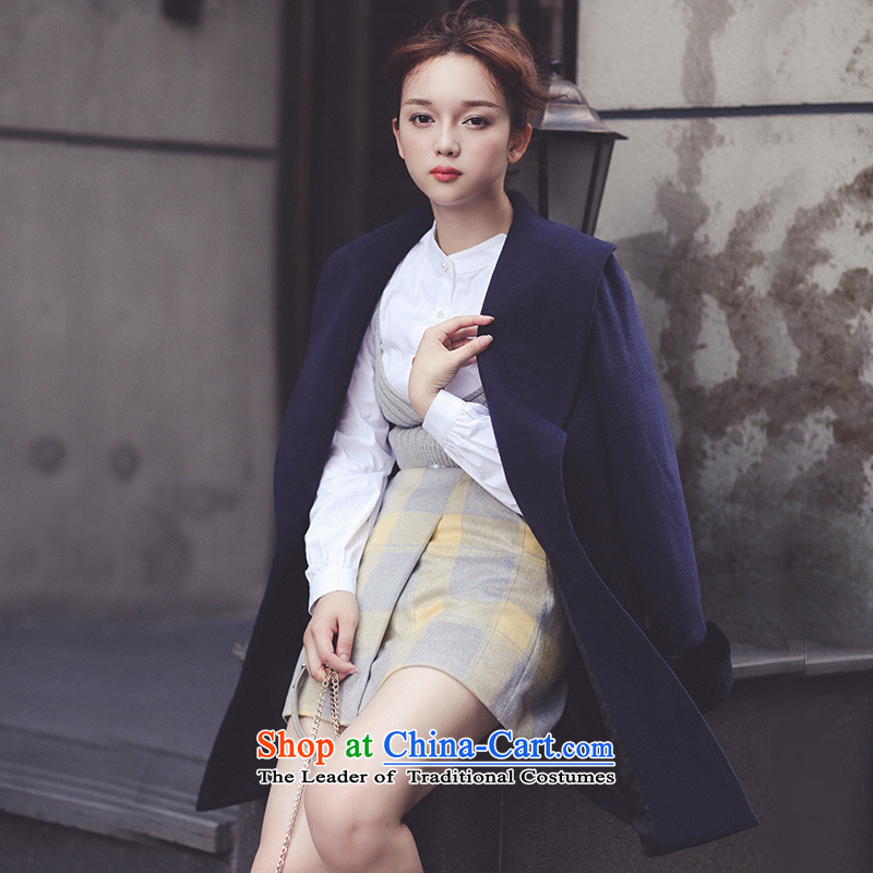 The autumn 2015 Ha-na new products pure color single row clip hair? 254301018 jacket color navy?L