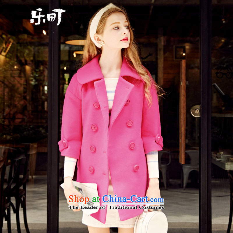 Lok-machi 2015 Autumn gross new overcoats in this long wool Sau San a wool coat autumn and winter clothes in red?M_160