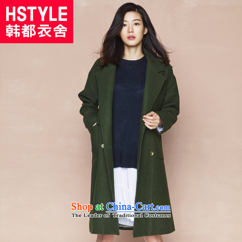 Korea has the Korean version of the Dag Hammarskj鰈d yi 2015 winter clothing new products with stylish loose video thin two long-sleeved jacket NG4331 gross? restaurant olive green燤