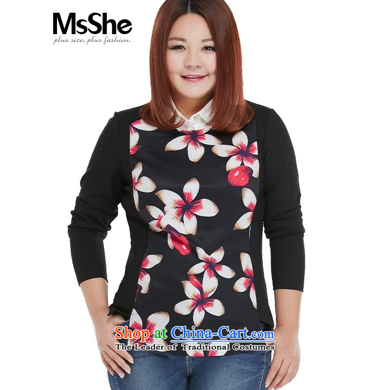 To increase the number msshe women 2015 new fall thick sister retro fitted stamp pullovers 10290 Black�L Safflower