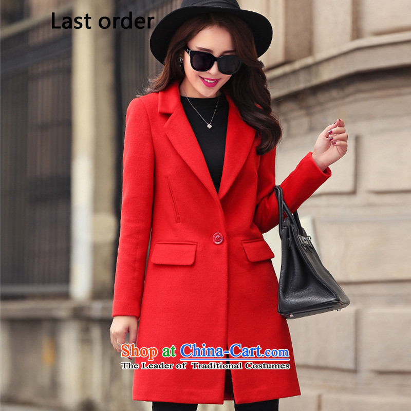 Last new order2015 Wild Hair? jacket Korean female China Coat? gross red XL