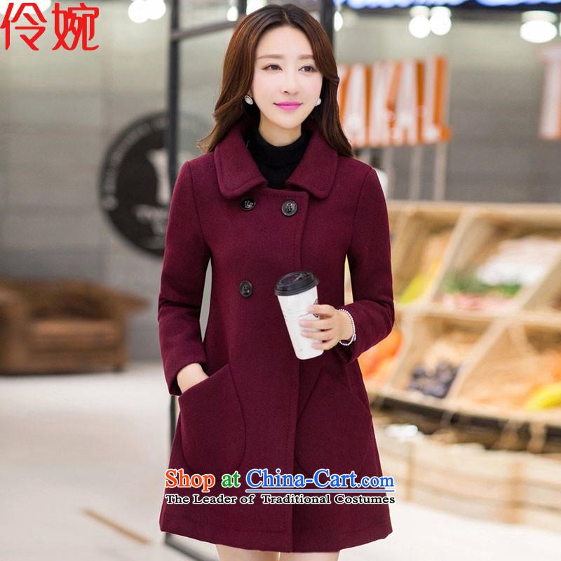 Nadia Chan Yuen 2015 winter clothing new Wild loose coat female爓z gross?爎ed燣