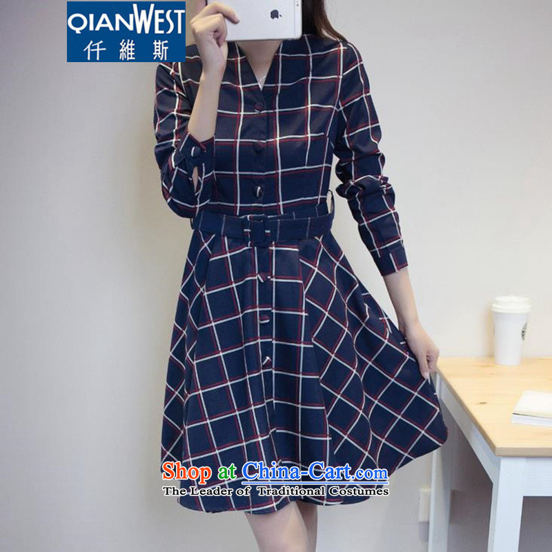 The scarlet letter, to increase the number of women with new fall inside the skirt thick MM stylish Fall/Winter Collections, forming the grid 200 catties Sau San video thin dresses 9175 picture color 3XL recommended weight 140-160 characters
