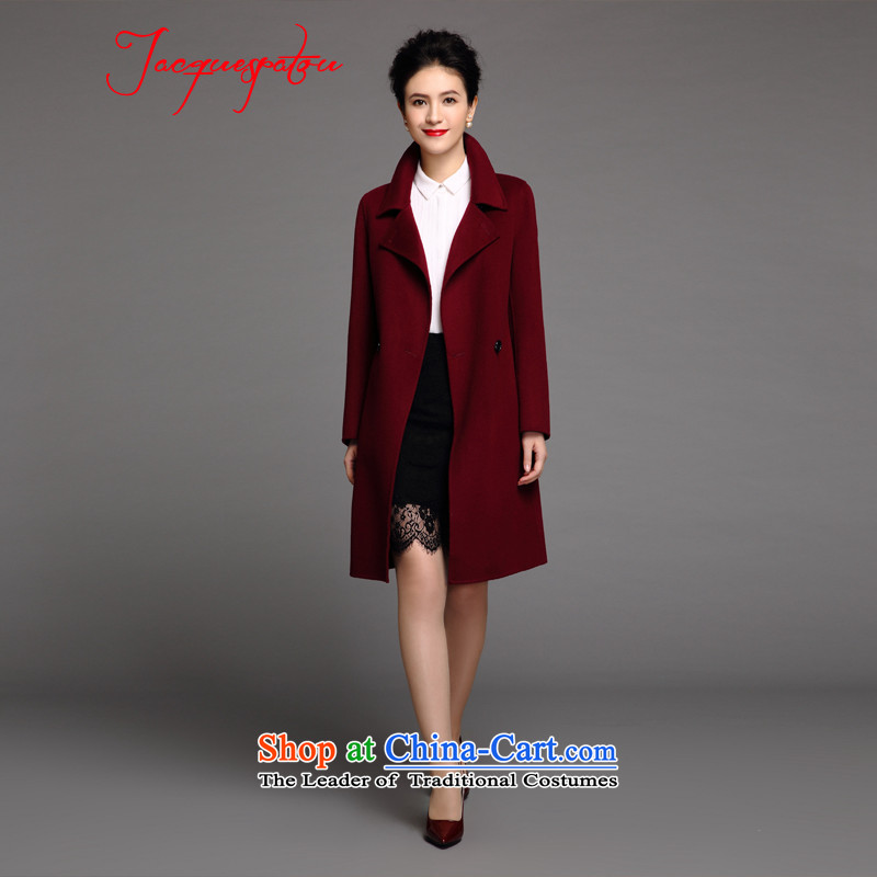 Connie 15 new Europe Fall_Winter Collections Stylish retro suits for commuting OL double-side cashmere overcoat girl English thoroughbred L