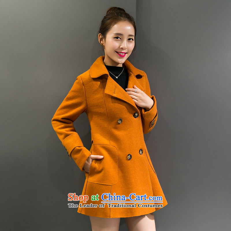 Sin has already爄nstalled the autumn of 2015, Sin new Korean citizenry elegant thick a wool coat jacket in gross? Long Large cloak daughter, and燣