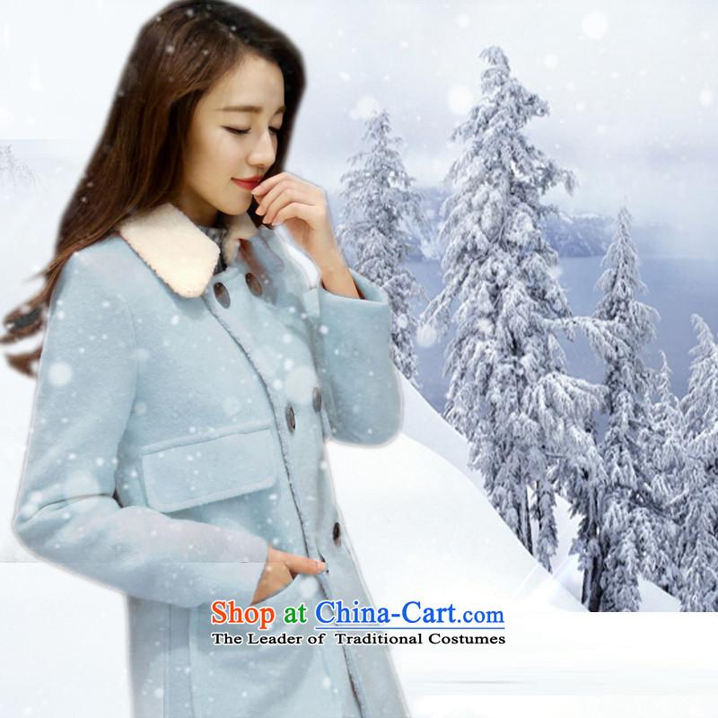 聽Load the autumn 2015 has sin new candy colored Korean citizenry video thin temperament Sau San Stylish Girl Water Jacket? gross Blue聽 M
