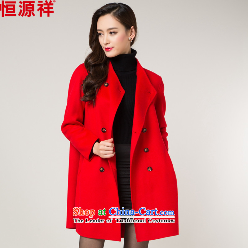 Hengyuan Cheung double-side woolen coat female 2015 autumn and winter coats classic for new?? sweater in gross long red