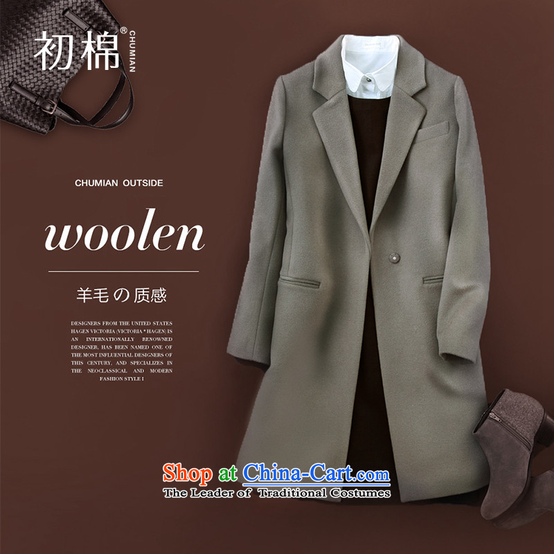 The beginning of the autumn and winter 2015 Cotton new gun connection for 94.3 per cent of female tea coats wool?�5_S color