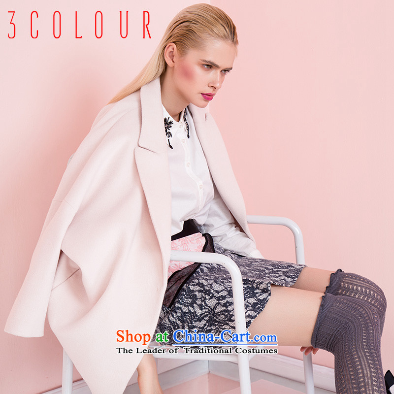 Designed for the 2015 winter clothing new Western-pure colors cocoon wild in long coat燚541002D00爌ink�0_84A_M female