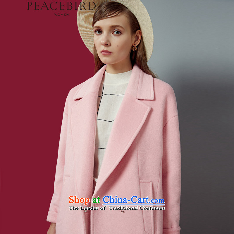 _pre-sale�.13 arrival ? ? new shining health peacebird women 2015 winter clothing new products lapel coats A4AA54206 pink pre-sale 12.13 arrival燤