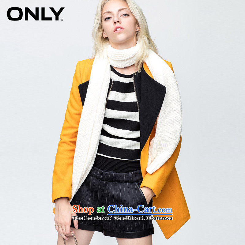 Only replace new collision autumn colored collars in long-sleeved Sau San Mao overcoats female E|11434s015? 054 Huang Ming 155/76A/XS