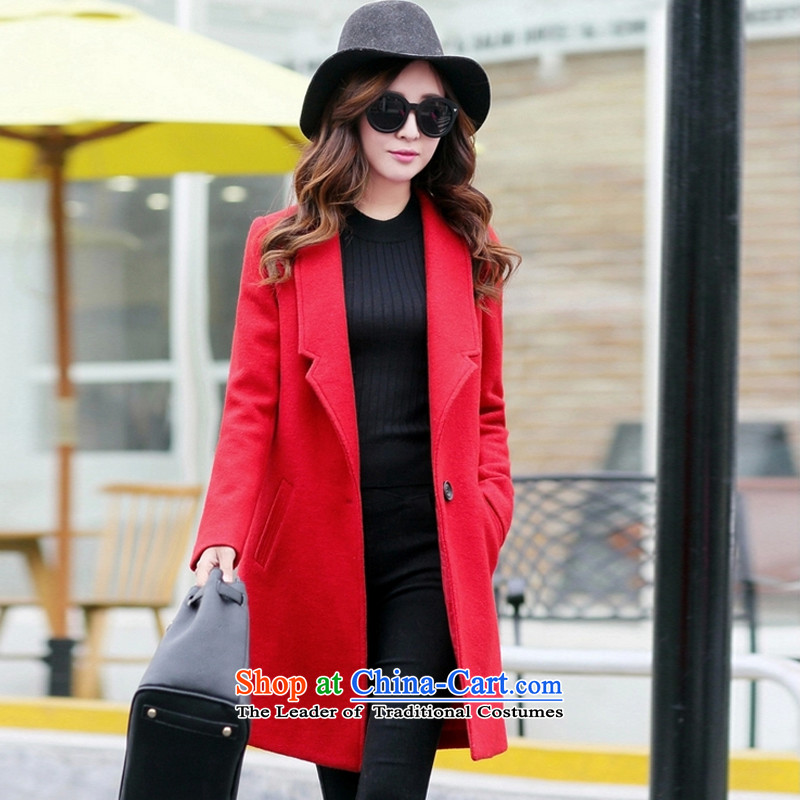 Laurence yi?2015 gross-jacket is caught in the female a wool coat of Sau San . 51 23 RED?M