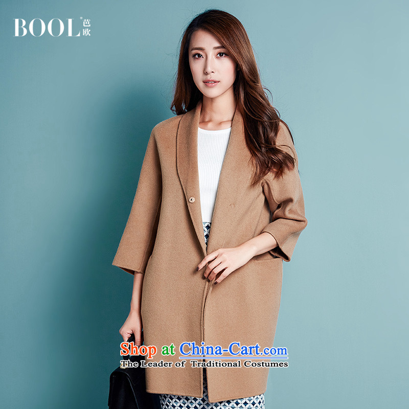 Barbara Europe 2015 autumn and winter new product version of the girl in Korea gross hand-made woolen coats? plain-sided flannel coats and colorS photographed the 20-day shipping