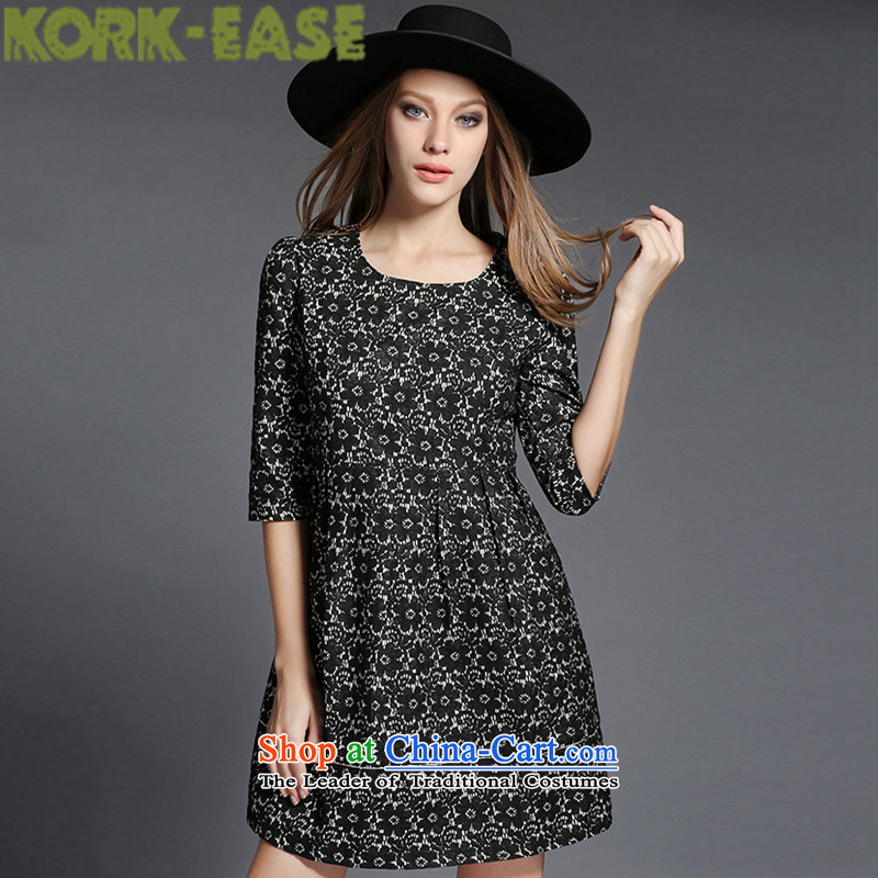 Kork-ease2015 lace thick mm thick people xl women fall/winter collections to increase video thin, dresses Summer 1550 Black2XL( paras. 141-151) the burden of recommendations