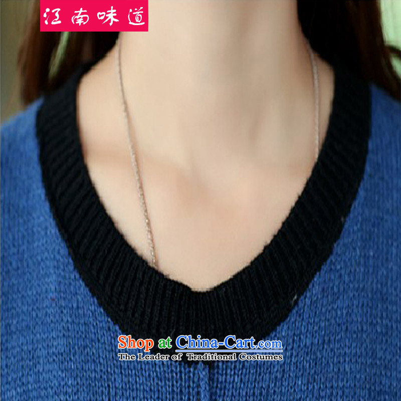 Gangnam-gu聽2015 Autumn replacing Europe taste for larger women to increase long-sleeved round-neck collar in MM thick long Sleek and versatile sweater wine red聽3XL recommendations 160-180, Gangnam taste shopping on the Internet has been pressed.