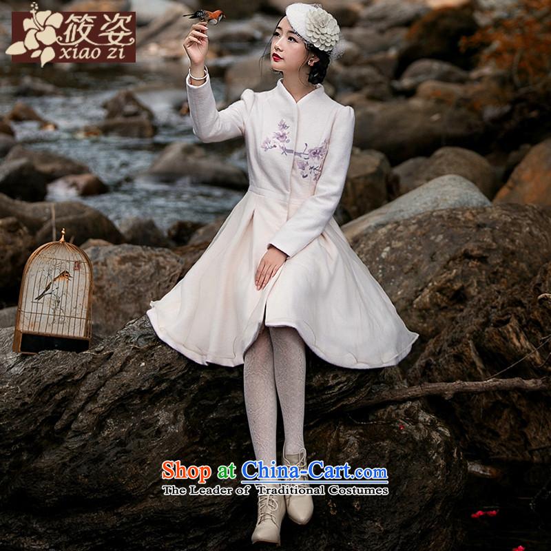 Gigi Lai Siu Chau stuffed light water爁all and winter 2015 new embroidery collar gross?   to cloak rice white long-sleeved sweater燣 pre-sale 35 days_