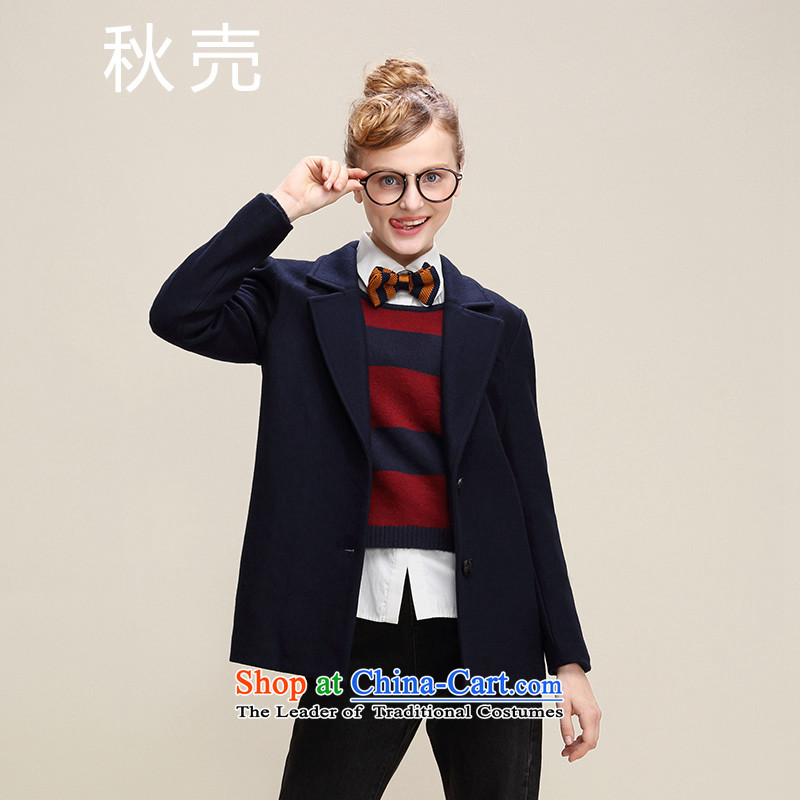 The autumn 2015 Autumn load new ?, carved coin short of a navy blue jacket 5533220120?M
