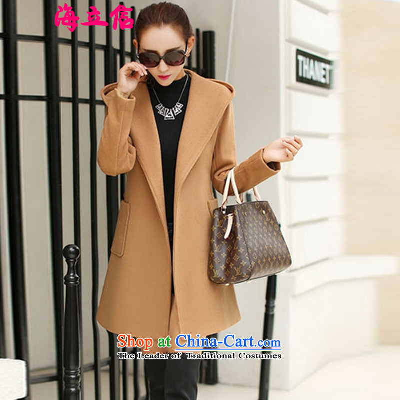 Letter alite�15 Fall_Winter Collections new Korean women a gross?   in long coats female gross? Wind Jacket girl and Color燤