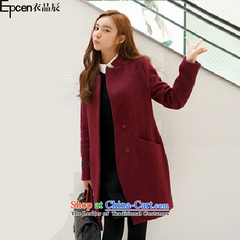 Yi Jin _epcen No. 2015 Sau San over the medium to longer term_ gross GD7049 jacket? wine red XXXL