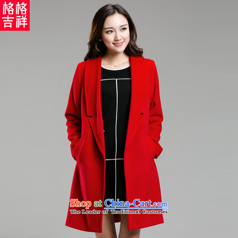 The interpolator auspicious�15 Fall_Winter Collections Of new women's xl thick mm thin Advanced Hair? graphics coats that long cardigan jacket K5869�L red