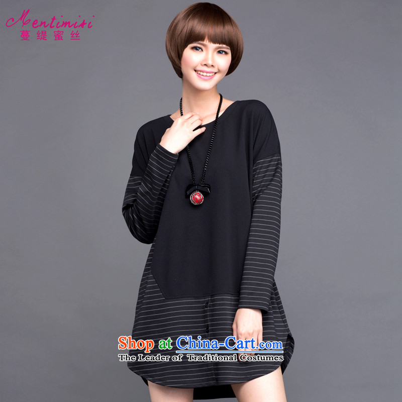 Golden Harvest large population honey economy women fall to increase expertise in mm stripe stitching loose video thin dresses�523爈arge black 5XL around 922.747 200