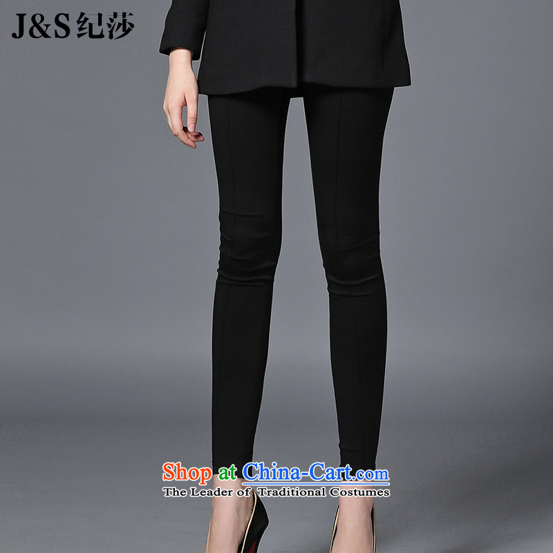 Elizabeth 2015 ultra high discipline code women wear trousers expertise with autumn to increase mm autumn and winter tight trousers燪024- castor black�L