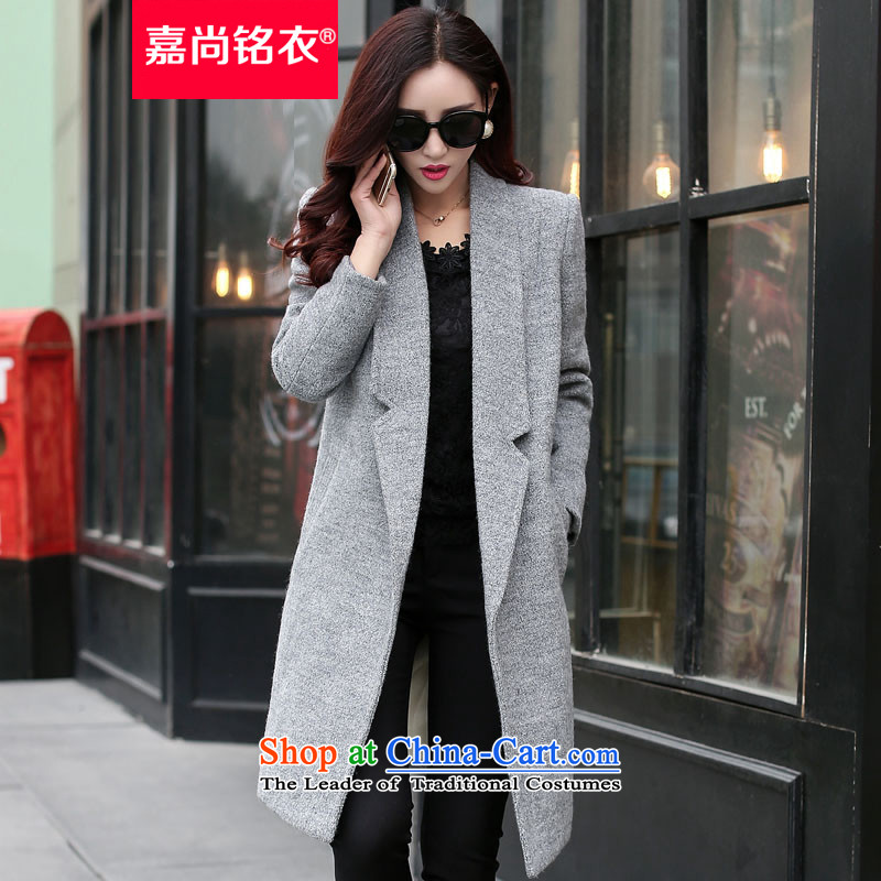 The Honorable Martin Lee Sang-ho yi 2015 Autumn new for women Korean Stylish coat Sau San video gross? thin in the medium to long term, a wool coat female jacket WT5505 GRAY M