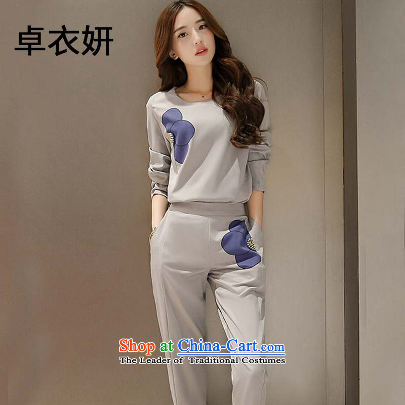 Stylish new products fall 1367_2015 stamp long-sleeved Sau San two kits for women picture color燲XL